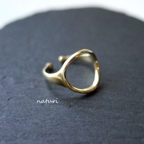 【luna】brass moon ring Ⅱ