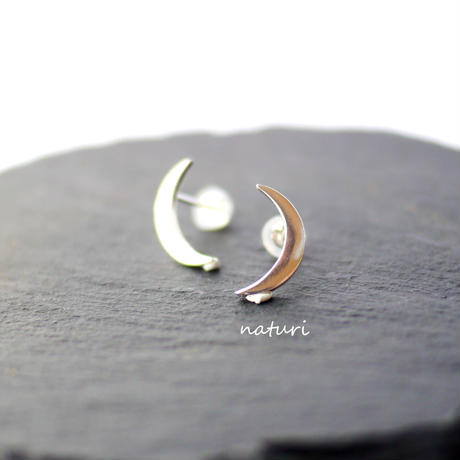 【luna】sv925 moon pierce Ⅵ (2pcs)