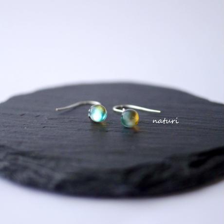 【rosee】glass drop pierce yel/grn (2pcs)