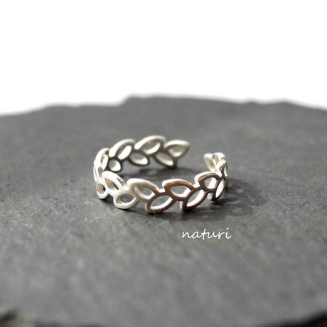 【feuille】sv925 leaf ring Ⅱ