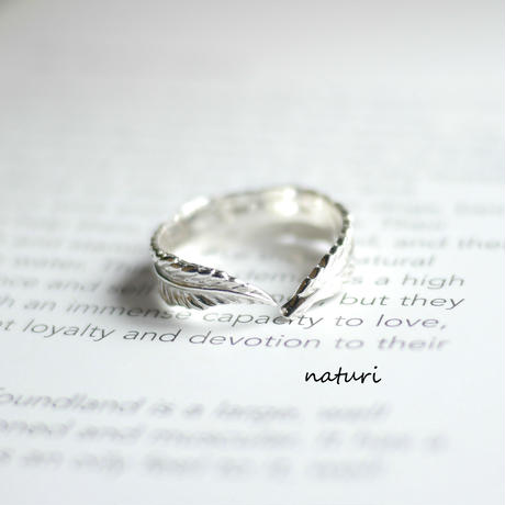 【plume】sv925 feather ring