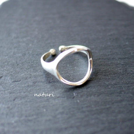 【luna】sv925 moon ring Ⅱ