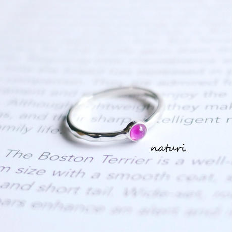 【tronc】sv925 pink sapphire ring (order)