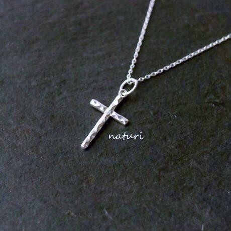 【croix】sv925 reversible cross necklace