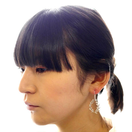 【feuille】sv925 leaf pierce (2pcs)