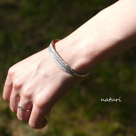 【plume】sv925 feather bangle