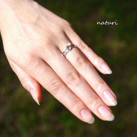 【tronc】sv925 pink coral ring