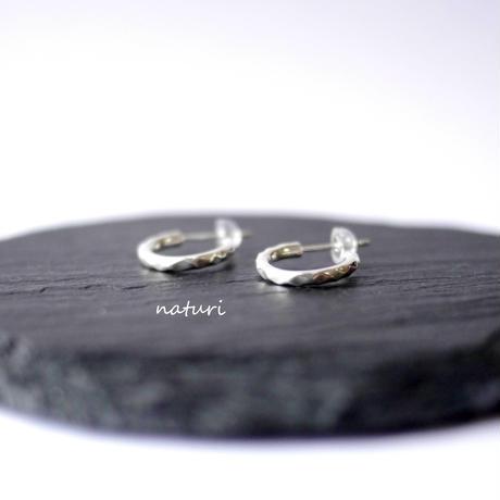 【tronc】sv925 hammered pierce S (2pcs)