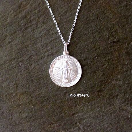 【medaille】sv925 miraculous medal necklace