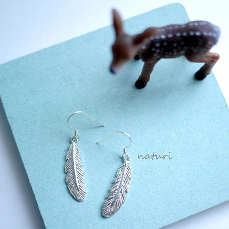 【plume】sv925 feather pierce (2pcs)