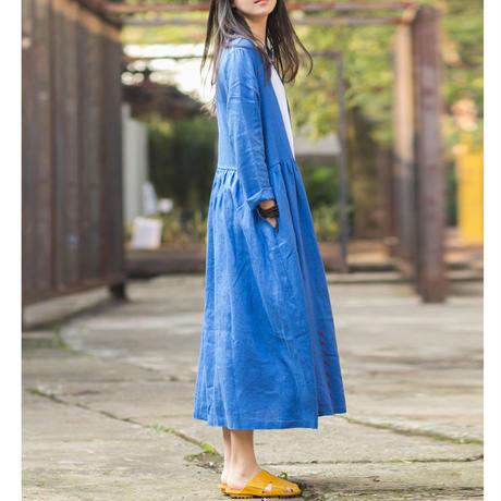 夏桜*リネン ロング ウインドブレーカー 春 秋 コート ホリデーカジュアルコート ns190703-26