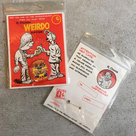 DEADSTOCK/ R.Crumb's WEIRDO BADGE