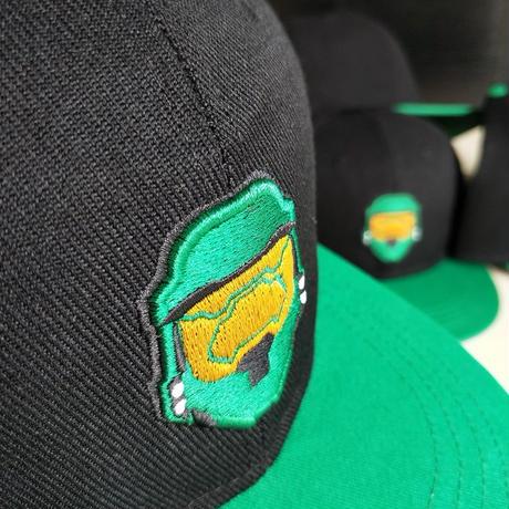 「BonesFreak」Halo Helmet 刺繍Snapback Cap