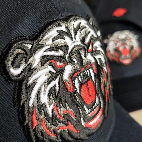 「BonesFreak」Bear Sakebi 刺繍Snapback Cap
