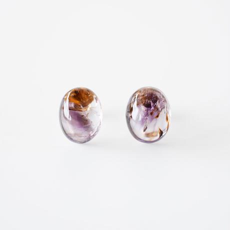 天然石ピアス/カコクセナイト