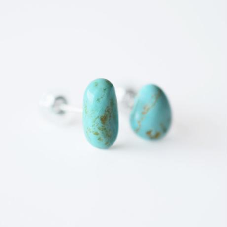 天然石ピアス/ターコイズ
