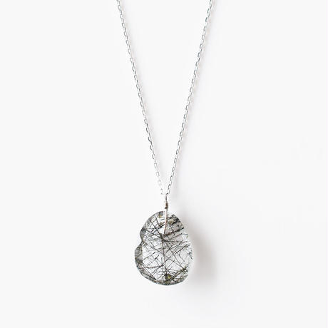 天然石ネックレス/ブラックルチル