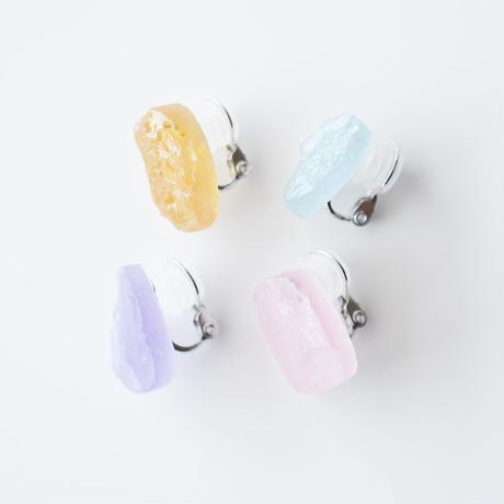 天然石イヤリング/キャンディーカラー4種