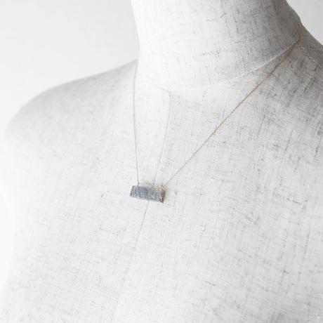 天然石ネックレス/ブルッカイトインクオーツ