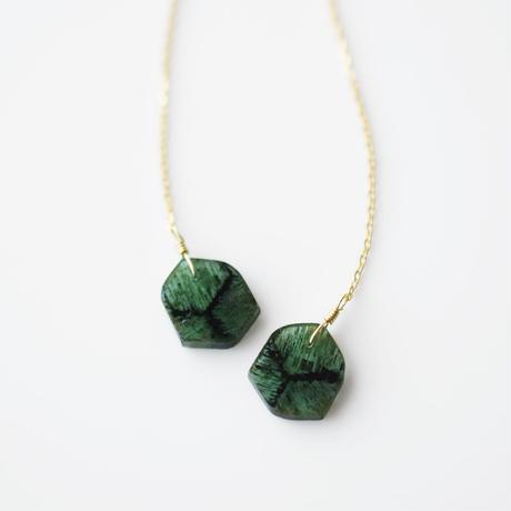 天然石ピアス/トルマリン