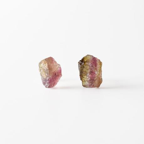 天然石ピアス/トルマリン原石