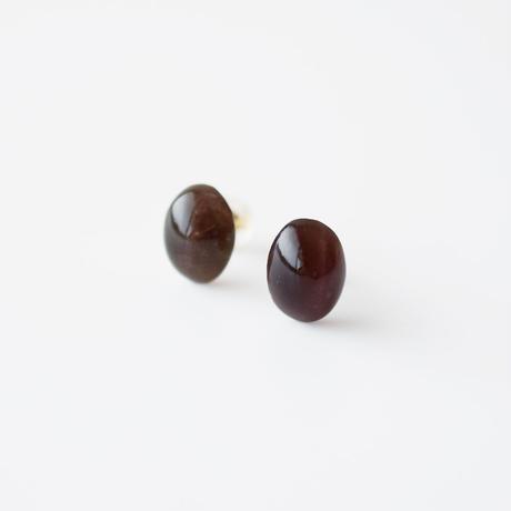 天然石ピアス/スキャポライトキャッツアイ