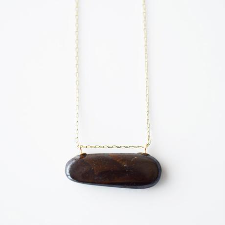 天然石ネックレス/ボルダーオパール