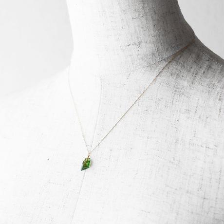 天然石ネックレス/クロムトルマリン原石