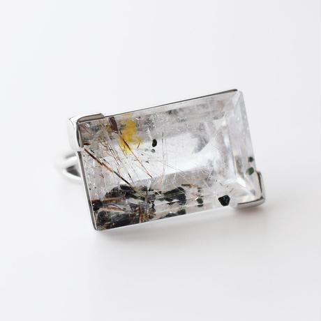 天然石リング/ルチルクォーツ