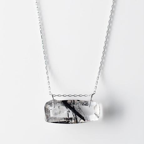 天然石ネックレス/トルマリン イン クオーツ