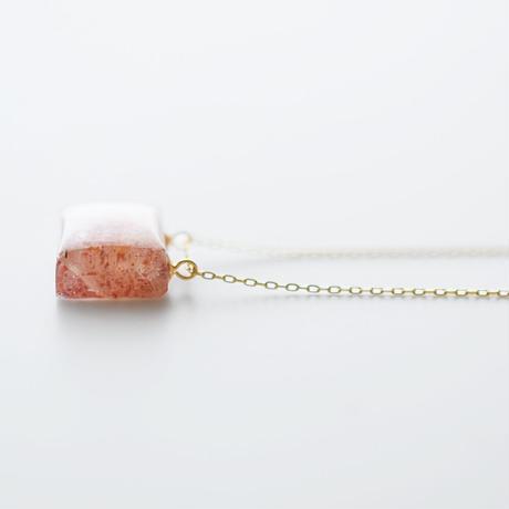 天然石ネックレス/サンストーン