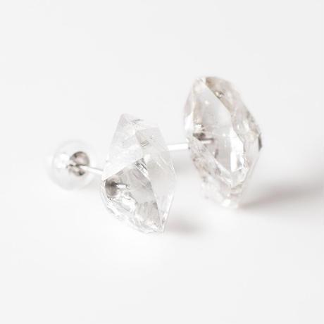 天然石ピアス/クォーツ結晶