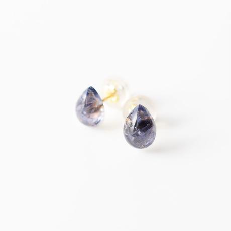 天然石ピアス/アイオライト