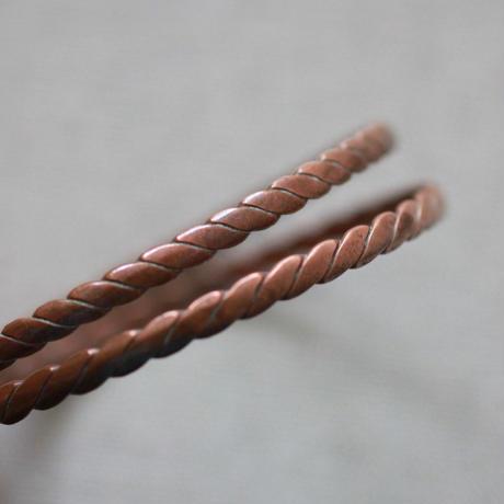 E860 銅バングル 2個 19cm