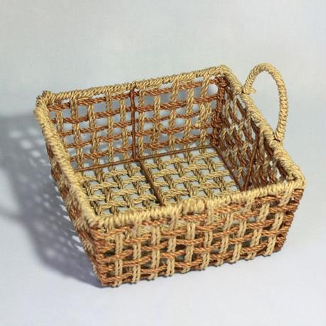 C363 すかし編みバスケット 縦21.2 x 横21.2 x 高さ10cm