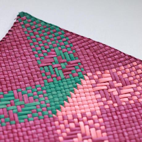 C654-655 模様入りバニーグプレイスマット(ピンク・緑) 縦32 x 横42 cm