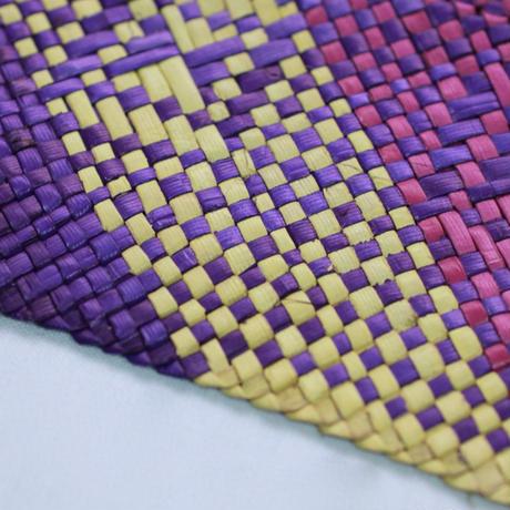 C656-658 模様入りバニーグプレイスマット(紫・黄) 縦32 x 横42 cm
