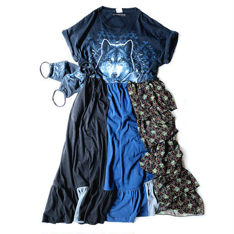 REMAKE TIERED DRESS / WOLF