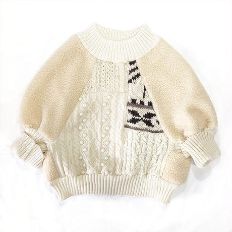 PATCHWORK OVER KNIT TOPS(A)