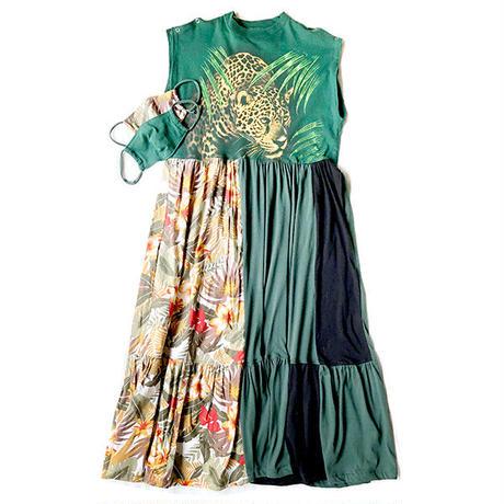 REMAKE TIERED DRESS / LEOPARD