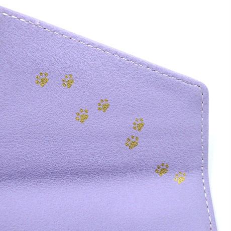 伸び猫レター長財布