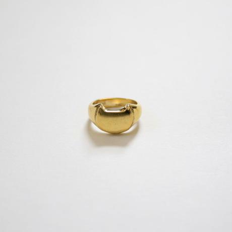 CAT SIGNET RING 真鍮キャットシグネットリング【kura】
