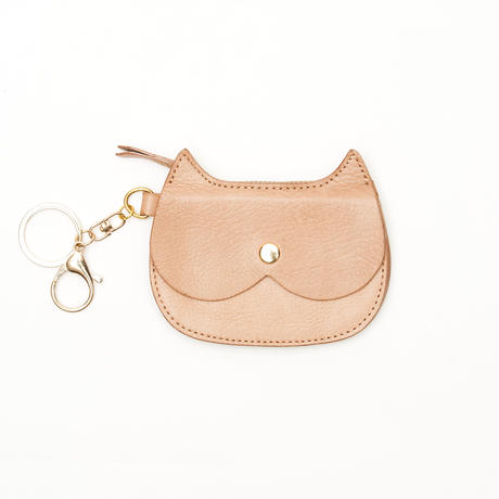 CAT  FACE  SMALL  PURSE      NATURAL