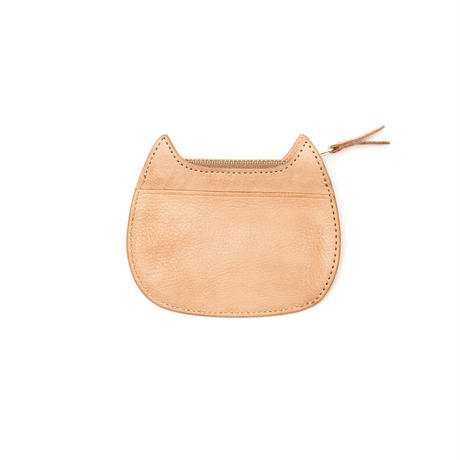CAT  COIN  PURSE  NATURAL
