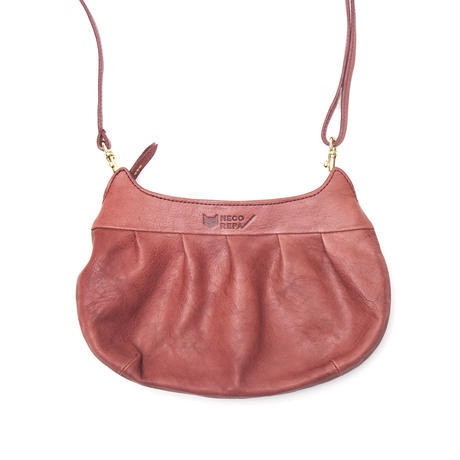 CAT FACE GATHER POCHETTE   RED