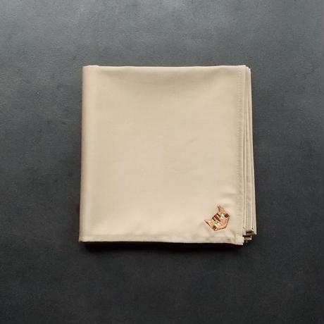NECOREPA 刺繍ハンカチNo21 サンドベージュ茶トラ