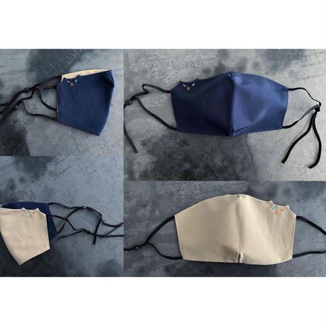 ファッションみたいに楽しむロクヨンクロスで作った、ゆるネコ・リバーシブルマスク