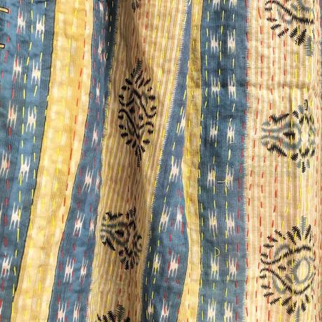 大判コットン100%  カンタ刺繍ショール-7