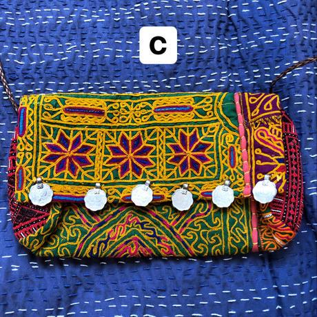 アフガン刺繍ミニショルダー/クラッチバッグ