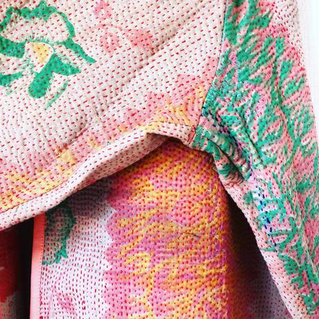 vintage kantha kimono jacket 桜色の珊瑚礁